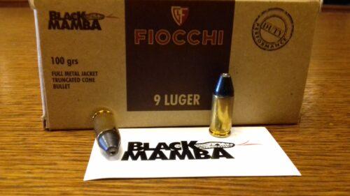 9×19 Fiocchi Black Mamba FMJTC BM 6,48g/ 100gr
